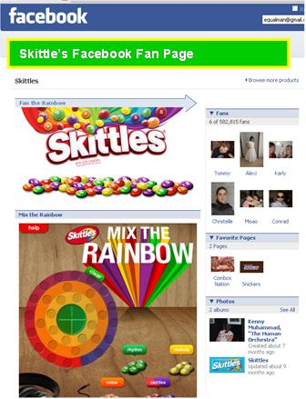 Giving away Skittles as a gift on Facebook would have been smart