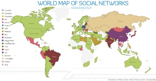 Top Social Networks by Country