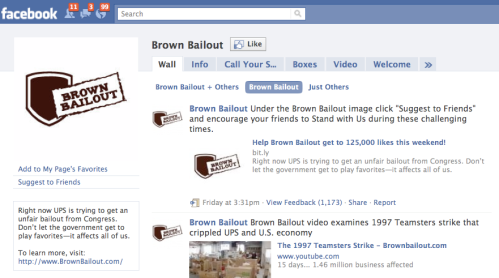 brown bailout facebook