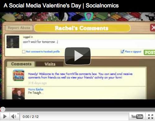 social media valentines day